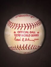 1978 Official World Series Baseball NY Yankees VS Dodgers Haiti Original Vintage