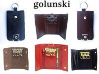 Golunski Quality Genuine Leather Key Cases in Various styles