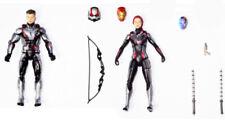 Black Widow & Hawkeye Marvel Legends Avengers Endgame team suit loose figure set