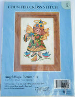 "Candamar Designs Counted Cross Stitch Kit Angel Magic Picture 5113 Size 5""x7"""