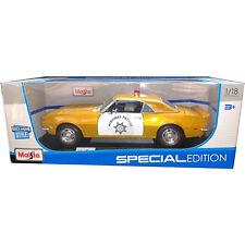 Maisto 1968 Chevrolet Camaro Z/28 Coupe Highway Patrol Police Car 1:18 Gold