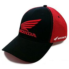 Genuine Honda Black & Red Motorbike Wing Logo Baseball Cap