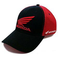 Original Honda Negro Y Rojo Moto Wing Logo Gorra de béisbol