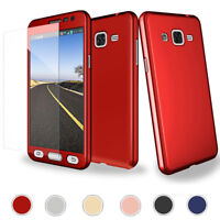 Slim Case with Screen Protector Cover For Samsung Note 5 4 3 8 S9+ S8 S7 S6 J7