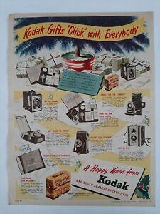 Vintage Australian advertising 1954 ad KODAK VERICHROME FILM & CAMERAS xmas art