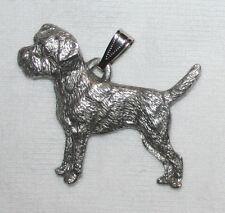 Border Terrier Dog Harris Fine Pewter Pendant Usa Made