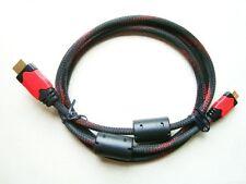 HDMI / M A MINI HDMI / M (1,4 V,1.5 M) Cavo, Placcato Oro Sockets Nero & Rosso Strisce