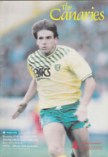 Football Programme>NORWICH CITY v MAN UTD Jan 1990