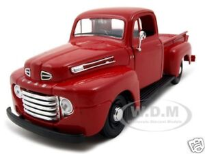 1948 FORD F-1 PICKUP TRUCK RED 1/25 DIECAST MODEL CAR BY MAISTO 31935