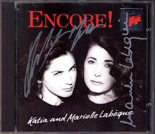 Katia & Marielle LABEQUE Signed ENCORE Adolfo Berio Bach Gershwin Joplin Bach CD