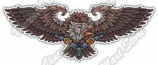 "Hawk Eagle Condor Bird Masonic Illuminati Car Bumper Vinyl Sticker Decal 6""X3"""