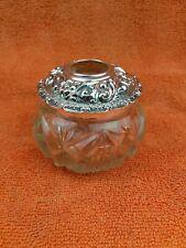More details for antique sterling silver hallmarked large vanity hair bottle jar 1907 pennington