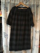 Jigsaw check tunic dress like cabbages and roses wool silk