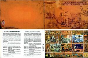 Bosnia - Repp. Srpska 1999 ☀ Meeting Millennium Transport, Space ☀ Booklet