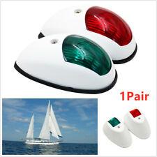 LED NAVIGATION LIGHTS WHITE HOUSINGS - Port/Starboard Marine Boat Nav