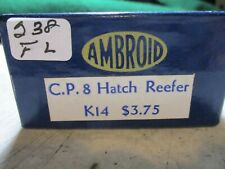 1 AMBROID CANADIAN PACIFIC 8 HATCH REEFER KIT #K 14 . H.O. GAUGE BRAND NEW.