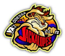 Odessa Jackalopes WPHL Hockey Logo Car Bumper Sticker Decal 5'' x 4''