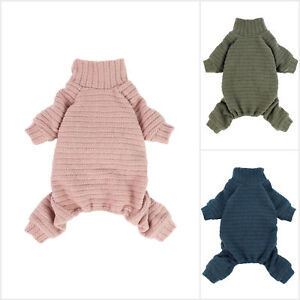 Fitwarm Turtleneck Knitted Dog Sweater Puppy Pajamas Thermal Doggie Winter Cloth