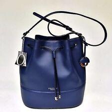 New OROTON Matilda Bucket Handbag Shoulder Crossbody Bag Leather  Blue RRP$545