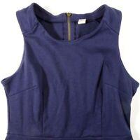 Old Navy Stretch Jumper Dress Navy Blue Back Zipper Sleeveless Women's Small