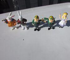 Vintage Alice In Wonderland Rare PVC Figurines Set of 5 Yarto UK Alice, Herald