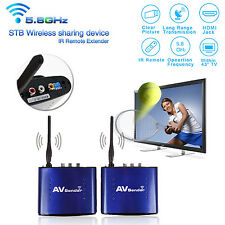 5.8GHz Wireless Transmitter Receiver Video Audio AV Sender TV IR Remote Extender