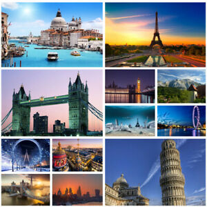 Europe Travel View Background Cloth Photography Backdrop Props