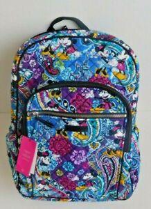 Vera Bradley Iconic Campus Laptop Backpack Mickey's Paisley Celebration NWT