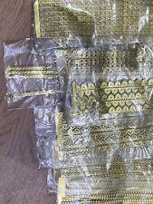 Vintage Gold Decoupage Tape Trim Paper Arts Crafts Huge Lot