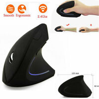 2.4G Wireless Vertical Ergonomic Optical Mouse 800/1200/1600DPI 6 Buttons For PC