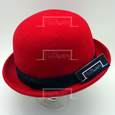 FASHION Wool Felt Soft Bowler Top Hat Women Casual Derby Party NEW   57cm   Red