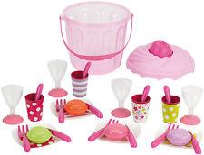 Ecoiffier Muffin-Eimer mit Partygeschirr Puppengeschirr Geschirr Kinderküche NEU