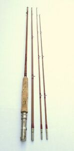 "Rare Vintage Sloan's Beaverkill Heddon Bamboo Fly Fishing Rod 8'6"" 3PC   #74"