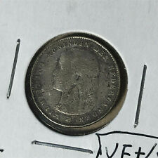 1895 Netherlands 25 Cents Welhelmina I 25 Cents Silver Coin VF Condition