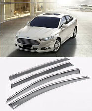 Window Visor Wind Deflector Rain Sun Guard Vent For 2013-2018 Ford Mondeo Fusion
