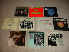 """Lot of 10 1980's Classic Rock 7"""" 45rpm Records VG+/EX Cond."""