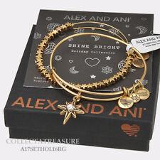 Authentic Alex and Ani North Star Set of 2 Rafaelian Gold Expandable Bangle