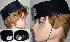 2x East german women hat cap with badge for Prison / Railroad Police Uniform
