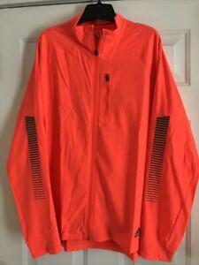 Mens Adidas Reflective Running Jacket Large Orange
