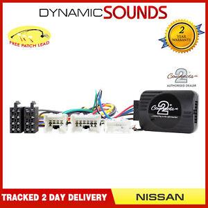 Car Steering Wheel Stalk Control Adaptor + Patch for Nissan Navara 350z X-Trail