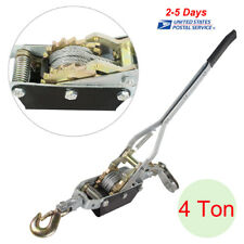 Useful 4ton Come Along Hoist Ratcheting Cable Winch Puller Crane Comealong