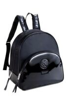Versace Parfums Black BackPack Medusa Head Hand dust Bag faux patent leather