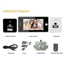 "4.3"" LCD 120° Digital Smart WIFI Peephole Door Eye Viewer Video Camera Monitor"