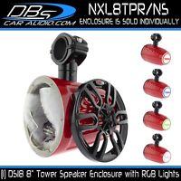 "8"" Wakeboard Tower Speaker Enclosure + RGB LED (No Speaker) DS18 NXL8TPR/NS"