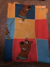 Vintage 1999 Scooby Doo Twin Bed Flat Sheet Bedding New Without Tags