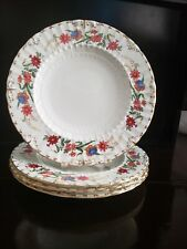 """ROYAL CROWN DERBY CHATSWORTH 4 LUNCHEON PLATES 9"""" DIAMETER. EXCELLENT CONDITION"""
