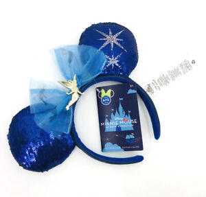2020 Mickey Cutie Blue Tinker Bell Disney Peter Pan's Flight Main Attraction Ear