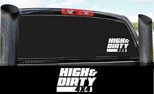 HIGH & DIRTY DIESEL 4X4 BUMPER STICKER DECAL COUNTRY PICK UP POWER STROKE