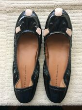 Marc by Marc Jacobs Black Patent Leather Cute Mice Ballerina Flats Catchy Shoes