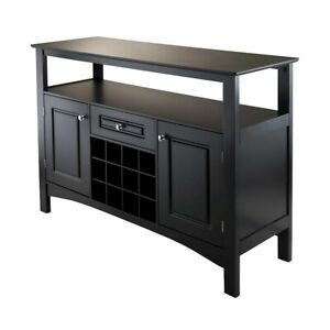 Winsome Jasper Storage Buffet, Black - 20745
